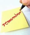 """Lísteček """"remember"""""""